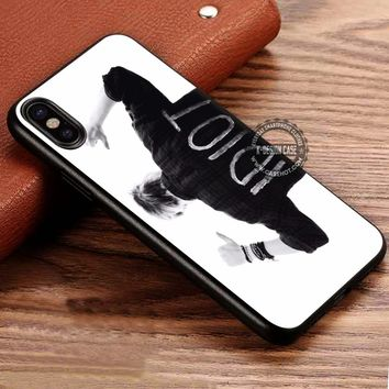 IDIOT Michael Clifford 5SOS Quote iPhone X 8 7 Plus 6s Cases Samsung Galaxy S8 Plus S7 edge NOTE 8 Covers #iphoneX #SamsungS8