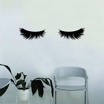 Eyelashes v3 Beautiful Design Decal Sticker Wall Bedroom Living Room Girls Women Ladies Vinyl Decor Art Eyebrows Make Up Cosmetics Beauty Salon MUA lashes