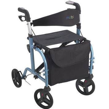 The Mobi Personal Transporter - A Rollator Walker & Transport Chair in One
