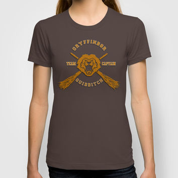 Harry potter Gryffindor quidditch team Adult Tee T-shirt by Three Second