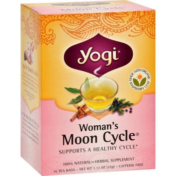 Yogi Woman's Moon Cycle Herbal Tea Caffeine Free - 16 Tea Bags - Case of 6