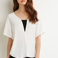 Contemporary Colorblock Crepe Blouse