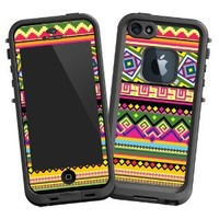 "Happy Bright Tribal ""Protective Decal Skin"" for LifeProof fre iPhone 5/5s Case"