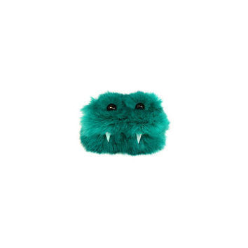Kai the Eco-Friendly Tin Monster - Kawaii - Green Furry Altered Altoids Tin