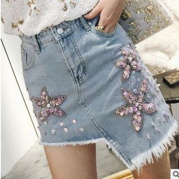 New Casual Women Summer Denim Jeans Skirt Ladies Long Jean girl Skirts fashion lady skirts
