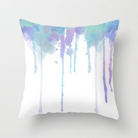 Watercolor Minty Fresh Throw Pillow by Abigail Ann | Society6
