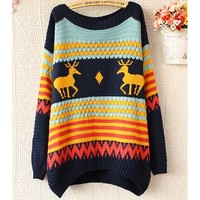 Vintage Fawn Pullover blue