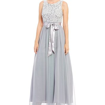 Jessica Howard Embroidered Bodice Ballgown | Dillards
