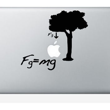 For Macbook Air / Pro Decal Sticker Funny Humor Newton Formule