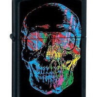 Zippo X-Ray Gothis Punk rock Biker Skull Black Matte Cigarette Lighter