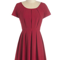 ModCloth Mid-length Cap Sleeves A-line Anticipating the Evening Dress