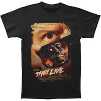 They Live Men's  They Live Poster T-shirt Black Rockabilia