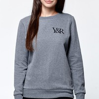 Young & Reckless Come Thru Crew Neck Sweatshirt - Womens Hoodie - Gray