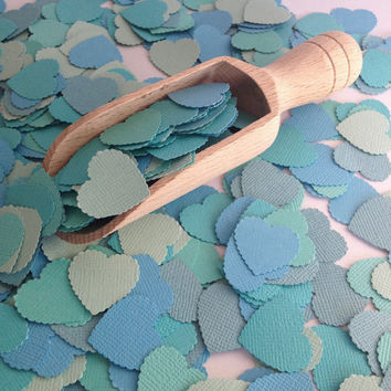 Tropical Collection Aqua Azure Heart Wedding Confetti- beach wedding confetti, beach wedding, baby shower decoration, baby boy