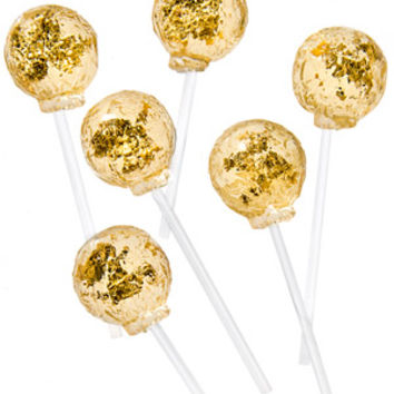Gold Lollipops: Luxurious lollipops made with edible gold