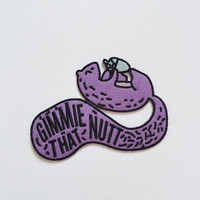 Gimmie That Nutt - funny squirrel iron on patch - Easy E inspired
