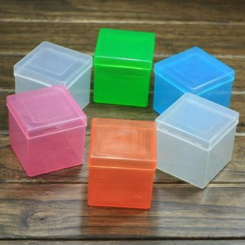 EFHH 1Pcs Plastic PP 3x3x3 Puzzle Cube Protection Box for 57mm Magic Cube Speed Blue/Pink/Orange/Green/Transparent Drop Shipping