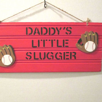 Boy Bedroom Decor Baseball Sign Handmade Nursery