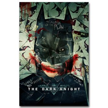 NICOLESHENTING Joker Batman The Dark Knight Art Silk Superheroes Movie Posters Prints Wall Pictures for Living Room Decoration