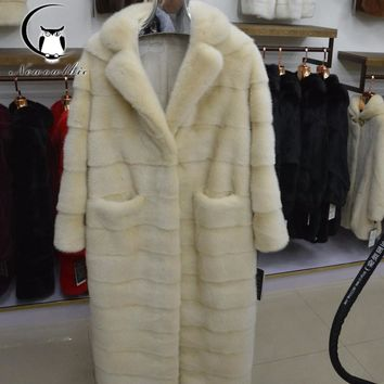 2018 Russian women real fur fur coats Genuine Leather, styles mink coat, High-grade imported mink skin, sell well natural fur