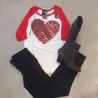 Red Sequin Heart Tunic