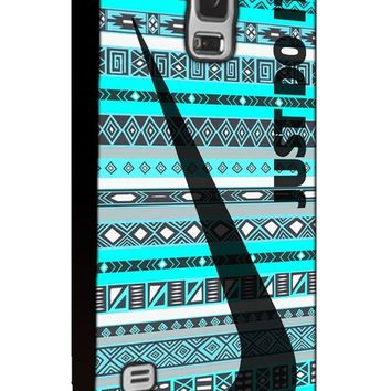 Just Do It Nike Aztec Custom Case for Samsung Galaxy S4 S5 S6 (Samsung Galaxy S5 black)