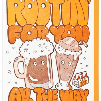 Rootin' for You All the Way Card