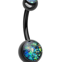 Colorline Opalescent Glitter Shower Belly Button Ring