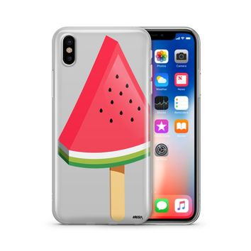 Watermelon Popsicle - Clear TPU Phone Case Cover Phone