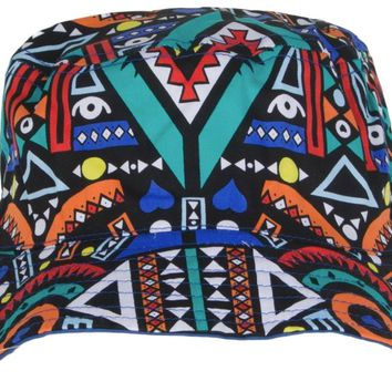 Aztec Multi-Colored Fresh Prince Style Bucket Hat For Mens Womens