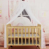 Portable Baby Bedding Crib Mosquito Net Round Toddler Baby Safe Bedding Netting Mosquito Mesh Hung Dome Curtain Net Newest