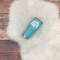 Momma Bear RTIC Tumbler • Vinyl • Gift • Mom Life • Mama • Momma • Mom • Mother's Day • Love • Babies • Protective