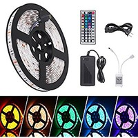 iHomy 16.4ft LED Flexible Light Strip, RGB 300 LEDs SMD 5050, LED Strip Lights, Waterproof Light Strips Kit, LED ribbon, Christmas Holiday Home Kitchen Car Bar Indoor Ceiling Party Decoration