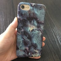 2017 Black,Blue, and mixed light marble veins Phone Case For iPhone 7 7Plus 6 6s Plus 5 5s SE