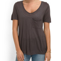 Holly Basic Pocket Tee - Women - T.J.Maxx