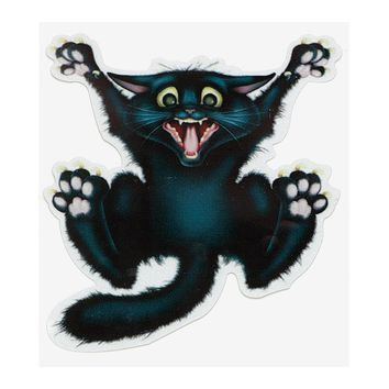 17cm*13.5cm 3D Crazy Cat Car Stickers and Decals