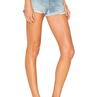 GRLFRND Adriana Mid-Rise Slouchy Short Tacked and Rolled in Love Rollercoaster | REVOLVE