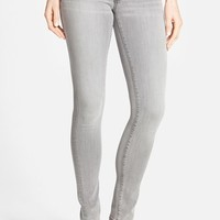Women's Halogen Plain Pocket Stretch Skinny Jeans (Grey Fog)