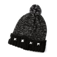 Studded Knit Space Dye Beanie | Claire's
