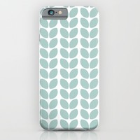 leaves - robins egg blue iPhone & iPod Case by Her Art