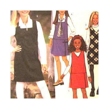 Uncut  Sewing Pattern Girls Jumper with Variations Sizes 7 8 10 12 14 Butterick 3960 School Clothes