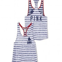 Boston Red Sox High-Low Striped Tank - PINK - Victoria's Secret