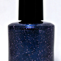 Galactic Glitter - Custom Midnight Purple Glitter Nail Polish