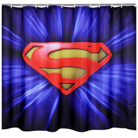 Bathroom Product Polyester Fabric Superman Printed Shower Curtains Liner Waterproof Washable Bath Curtain = 1946345220