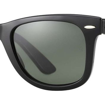 Ray Ban RB 2140 Original Wayfarer 901 Black Frame/ Green Classic G-15 Glass 54mm