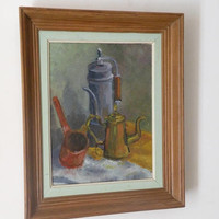 French rustic still life painting, oil painting, acrylic painting, original French art, rustic home, unique art gift, French farmhouse