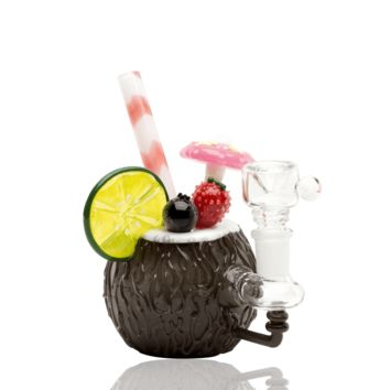 Empire Glassworks Coconut Colada Mini Rig Water Pipe