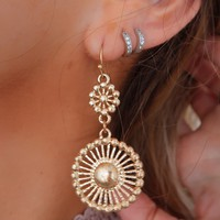 Adore You Earrings: Gold