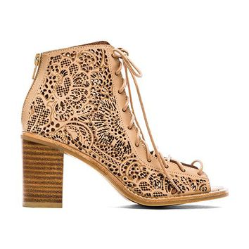 Jeffrey Campbell Cors Lace Up Sandal in Beige