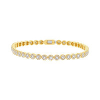 2.21ct 14k Yellow Gold Diamond Lady's Bracelet